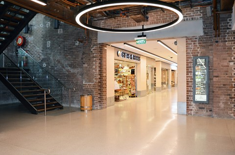Fast Curing Resin Terrazzo Renews The Rocks Centre
