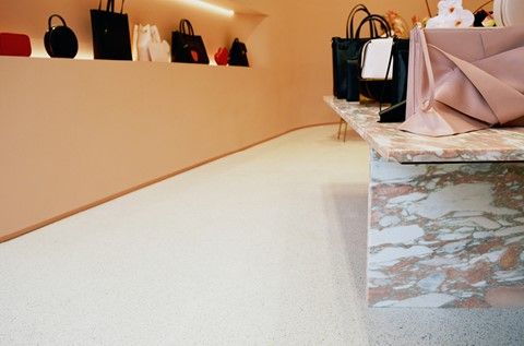 Flooring on Show at Fashion Brand's Flagship Store
