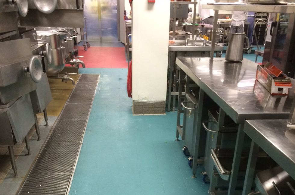 Flowfast cure for private hospital kitchen floor for Floors and kitchens st john