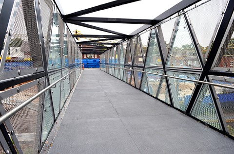 Flowfast Floors Footbridge in Railway Regeneration Project