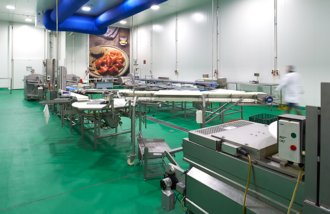 The flooring project at the Huon Aquaculture Smokehouse and Product Innovation centre in Parramatta Creek, Tasmania.