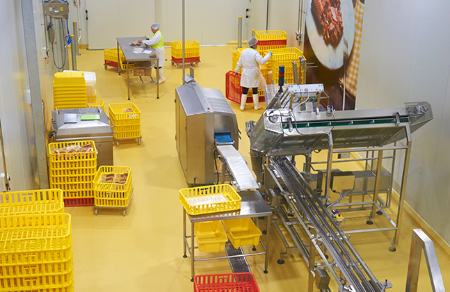 The food manufacturing design specialist Wiley specified a high performance resin floor from Flowcrete Australia for a $12 million, state-of-the-art smokehouse.