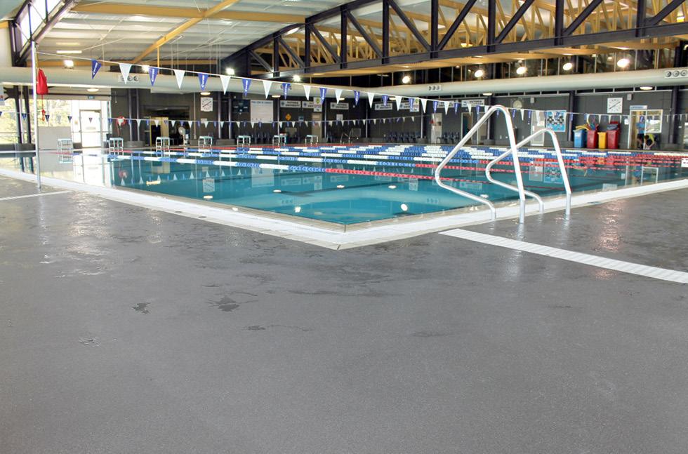 flowcrete dives into aquatic centre flooring refurbishment pool surrounds